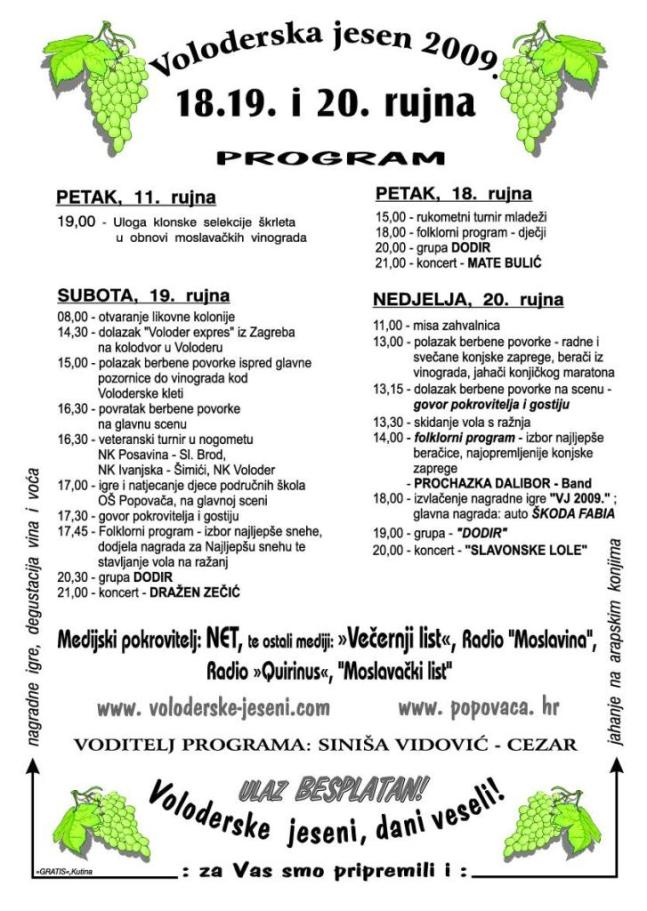 voloderske jeseni_program