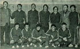 KK Gavrilović 1970. godine. Koletić čući treći s lijeva...