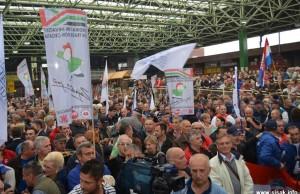 Prosvjed protiv zatvaranja Rafinerije Sisak
