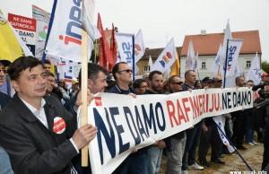 Prvosvibanjski prosvjed u Sisku
