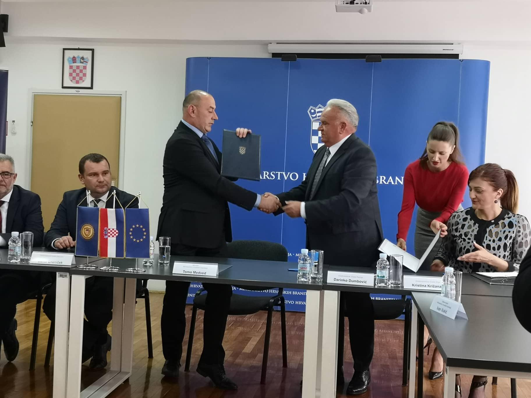 Potpisan sporazum o suradnji pri radu Veteranskog centra u Petrinji