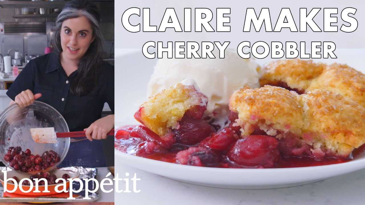 Claire Makes Cherry Cobbler From The Test Kitchen Bon