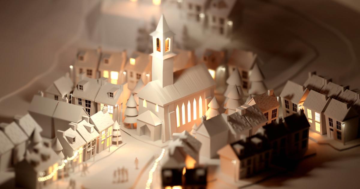 Božićno selo u vašem domu: Napravite ga sami od papira