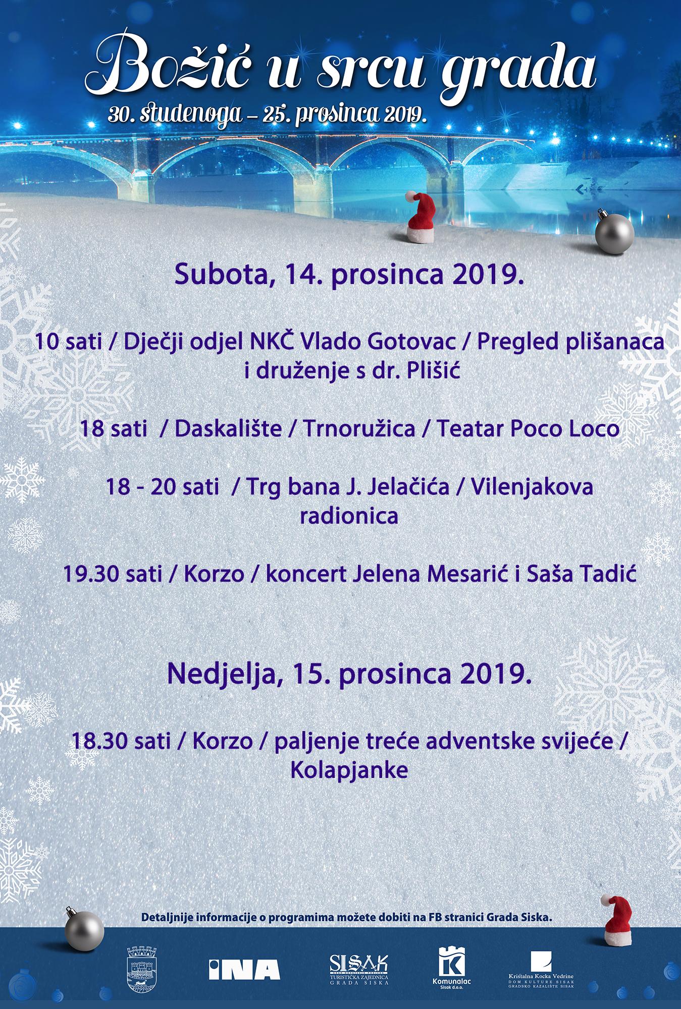Nastavlja se manifestacija Božić u srcu grada