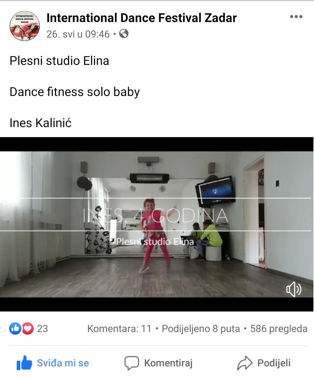 Odlični rezultati Plesnog studija Elina na prvom Online plesnom natjecanju