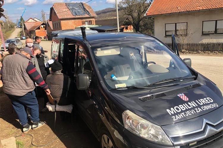 U ponedjeljak mobilni uredi za obnovu u Martinskoj Vesi