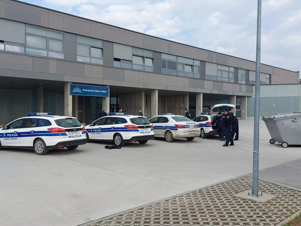 Policija objavila detalje jučerašnjeg događaja u zgradi Strukovne škole u Sisku